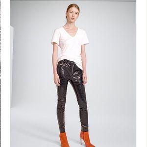 Rag & Bone Patent Leather Ryder Pants 4